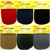 CORDUROY ELBOW / KNEE REPAIR PATCHES / KLEIBER IRON or SEW-ON PRE-PUNCHED PATCH - ThreadandTrimmings