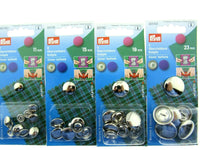 Prym Metal Cover Buttons 11mm / 15mm / 19mm / 23mm - ThreadandTrimmings