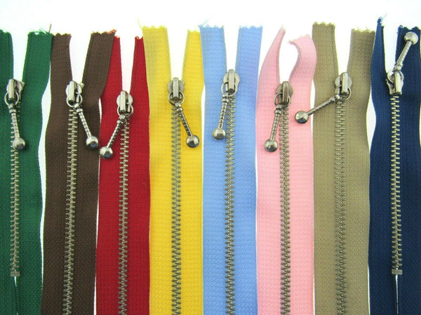 Metal Pocket Zips With Attractive Zip Puller - ThreadandTrimmings