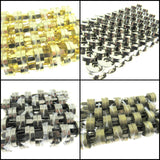 200 x 14mm MAGNETIC BAG FASTENERS - GOLD , SILVER , BLACK, ANTIQUE BRASS