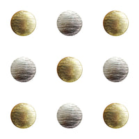BRUSHED BLAZER BUTTONS - GOLD & SILVER 15mm & 20mm - ThreadandTrimmings