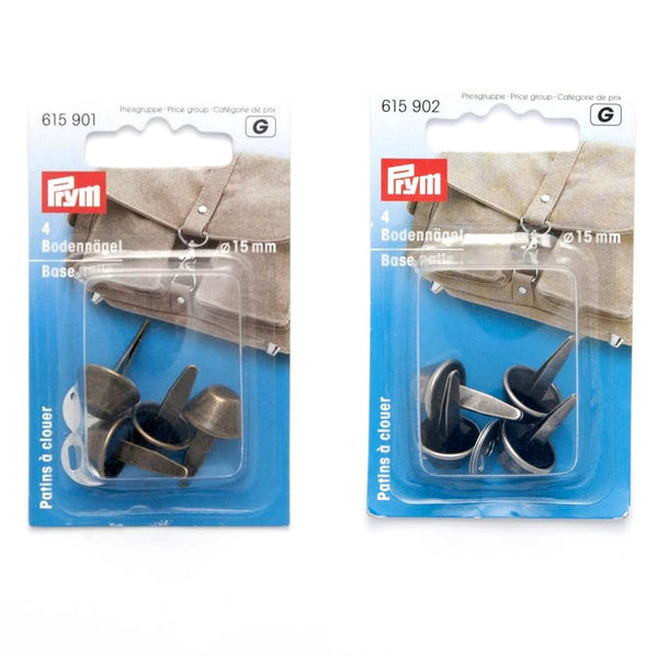 ** PRYM BASE NAILS for BAG MAKING - 15mm - Set of 4 Feet / Nails - ThreadandTrimmings