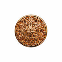 ROSE GOLD METAL FILIGREE STYLE BUTTONS - 15mm & 20mm - ThreadandTrimmings