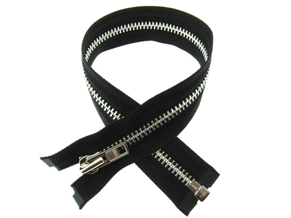 5 x HEAVY DUTY METAL YKK MOTORBIKE ZIPS - SUPER BULK LISTING - No 8 WEIGHT - ThreadandTrimmings