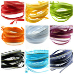 "CHIFFON RIBBON WITH SATIN EDGE & CENTRAL ""LUREX"" STRIPE - 10mm & 22mm"