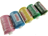 ** 5 x Random Assorted Colours 1000 Yard Spun Polyester 120's Thread - CLEARANCE - ThreadandTrimmings