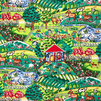 ** CHILDRENS FARMYARD FAT QUARTER COTTON PRINT FABRIC -DUCKS, COWS, HENS, HORSES - ThreadandTrimmings