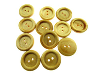 TWO HOLE RING EDGE WOODEN BUTTONS - SIZE 18mm & 23mm (CW2) - ThreadandTrimmings