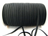 16 CORD ELASTIC - BLACK or WHITE  ( 12mm APPROX)