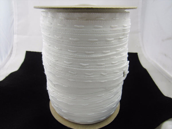 WHOLE ROLL POLYESTER FLANGE CURTAIN LINING TAPE - 25mm WIDE - 100m x ROLL - ThreadandTrimmings