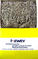**500g - 22mm NEWEY DIADEM BRASS (NICKEL PLATED BRASS) STRAIGHT LACE MAKING PINS