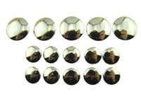 SHINY DOMED / BEVELED SILVER BLAZER BUTTONS PLASTIC -3 x SIZES -WITH SHANK- CX1 - ThreadandTrimmings