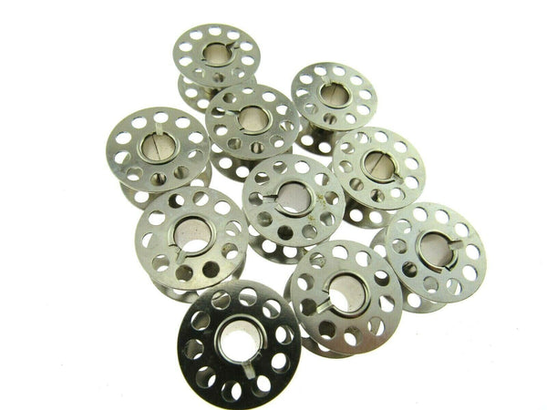 METAL BOBBINS / 15k or 66K / PACK of 10 / UNIVERSAL METAL SEWING MACHINE BOBBINS - ThreadandTrimmings