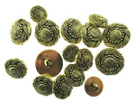 ANTIQUE GOLD TURKS HEAD / FRENCH PLAIT PLASTIC BUTTONS 15mm, 19mm & 23mm - ThreadandTrimmings