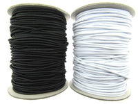 2mm BLACK or WHITE ROUND CORD ELASTIC - FULL ROLL (50m) - MADE in UK