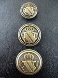 BRONZE METAL MILITARY SHIELD BLAZER BUTTONS - Choose From 4 sizes B1978 - ThreadandTrimmings