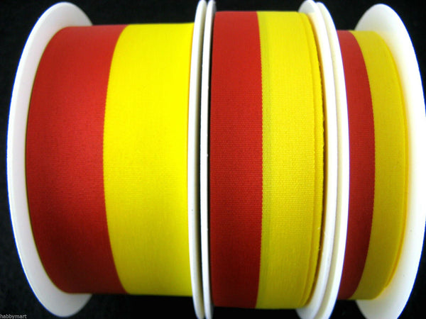 RED and YELLOW SPANISH NATIONAL PATRIOTIC COLOUR RIBBON RED YELLOW SPAIN ESPANIA