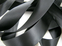 ** 7mm TOP QUALITY DOUBLE SIDED SATIN POLYESTER RIBBON WOVEN EDGE - 27 Colours