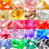 "** 25mm (1"") QUALITY DOUBLE SIDED SATIN POLYESTER RIBBON WOVEN EDGE 27 COLOURS"