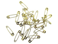 ** BRASS POLISHED SAFETY PINS - Sizes 19mm / 22mm / 28mm