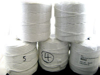WHOLE ROLL - 500 GRAMS BLEACHED COTTON PIPING CORD - SIZE 1mm t  6mm WHOLE ROLLS - ThreadandTrimmings