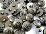 "ANTIQUE BRONZE ""GREEN HOWARD"" DOMED CRESTED MILITARY PLASTIC BLAZER BUTTONS B108"