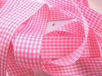 ** GINGHAM RIBBON - AVAILABLE IN 14 LOVELY COLOURS AND 3 SIZES - ThreadandTrimmings