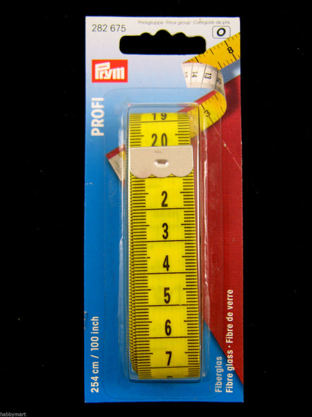 "100"" (254cm) EXTRA LONG PRYM PROFESSIONAL FIBRE GLASS TAILORING TAPE MEASURE 675 - ThreadandTrimmings"