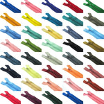 MIXED CLOSED END NYLON ZIPS ASSORTMENT - CHOOSE FROM 44 RICH COLOURS - 10 SIZES - ThreadandTrimmings