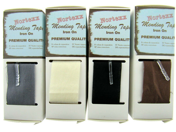NORTEX COTTON MENDING REPAIR TAPE - IRON ON - PREMIUM QUALITY - 100% COTTON - ThreadandTrimmings