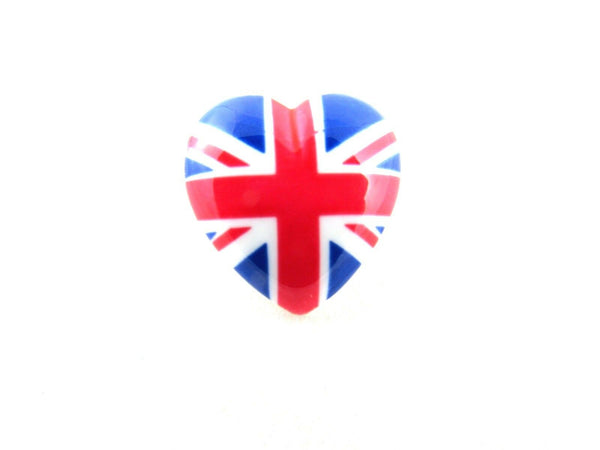23mm UK Heart Buttons with Shank - Union Jack Heart Buttons - ThreadandTrimmings