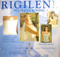 RIGILENE POLYESTER BONING FULL 40m ROLL (CHOOSE WIDTH & COLOUR) WEDDING DRESSES - ThreadandTrimmings