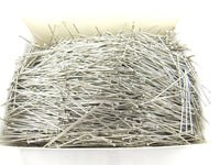 ** 500gm EXTRA FINE HARDENED 37mm TEMPERED NICKEL PLATED STEEL DRESS MAKER PINS