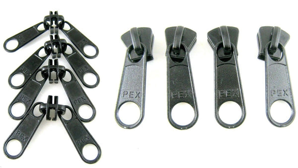 ** Long & Double Zip Puller for Number # 10 Plastic Zip Chain - ThreadandTrimmings