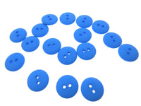 ** 10 x SEW THROUGH SMARTY BUTTONS - MATT FINISH - DOUBLE DOMED - DYED NYLON