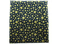 "** MICHAEL MILLER"" CATS CRADLE- STARBRITE"" - NAVY - FAT QUARTER - GOLD STARS - ThreadandTrimmings"