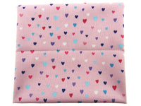 "** STUDIO E's ""UNICORN KISSES "" FAT QUARTER FABRIC PINK SCATTERED HEARTS BLENDER - ThreadandTrimmings"