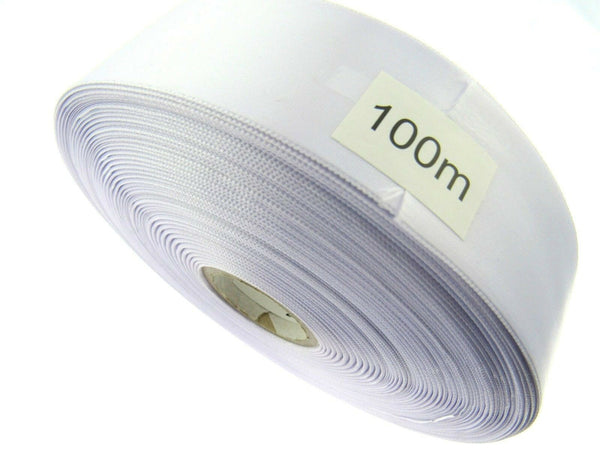 "** WHITE ""SINGLE SIDED"" SATIN WEDDING CAR RIBBON - 38mm WIDE"