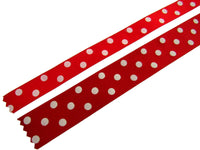 ** 15mm BERISFORDS ESSENTIALS POLKA DOT SATIN RIBBON - ThreadandTrimmings