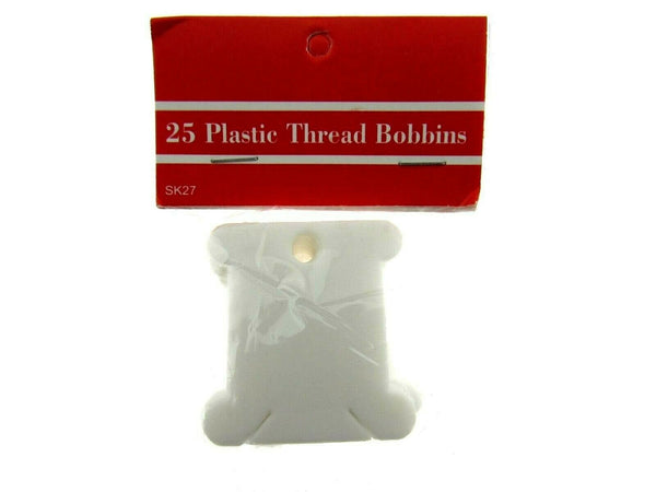 ** 300 PLASTIC EMBROIDERY THREAD BOBBINS FLOSS CARDS 38mm (12 x 25 packs) - ThreadandTrimmings
