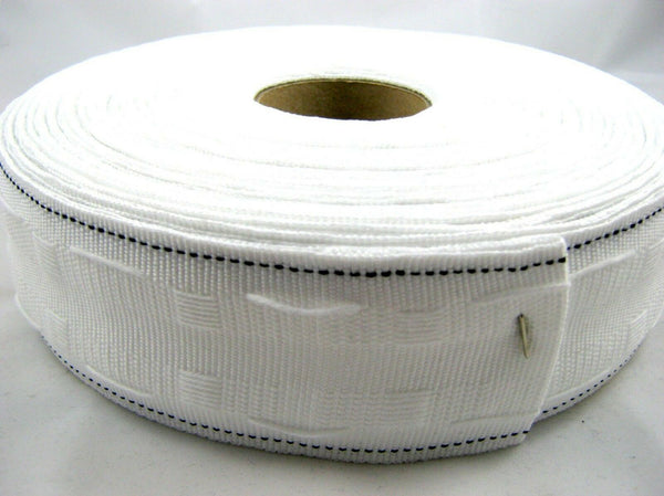 "WHOLE ROLL TWO INCH (55mm) POLYESTER WORKROOM CURTAIN TAPE / 2"" WIDE - ThreadandTrimmings"