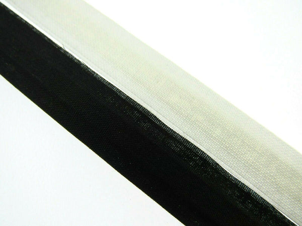 13mm COTTON COVERED BONING, - BLACK or WHITE TWILL - CENTRE PLACED - 20 METERS - ThreadandTrimmings