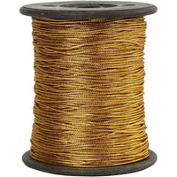 0.5mm METALLIC GOLD or SILVER THREAD - HANGING THREAD or JEWELRY CORD - ThreadandTrimmings