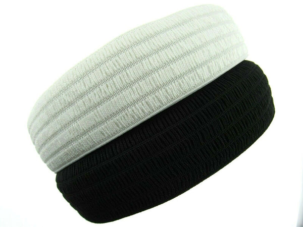 WASPIE ELASTIC TO MAKE YOUR OWN NURSES BELTS - 50mm in BLACK or WHITE - ThreadandTrimmings