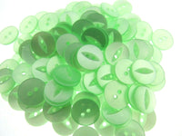 "FISH EYE BUTTONS - POLYESTER - SOLID COLOURS - SIZE 30 (19mm - 3/4"") - ThreadandTrimmings"
