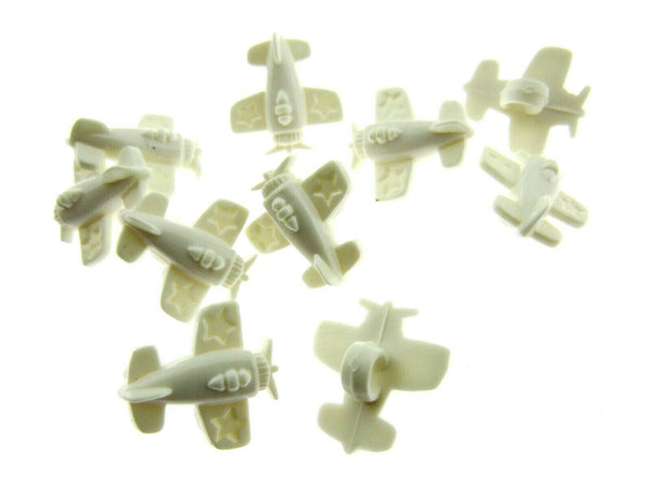 Children's Aeroplane Buttons - Approx 15mm - Choose From 3 Colours - ThreadandTrimmings