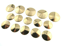 ROSE GOLD METAL BEVELED BUTTONS - 15mm & 20mm B501 - ThreadandTrimmings