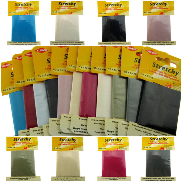 ** Iron-on Elasticated STRETCHY Patches Kleiber - (40cm x 6cm) - 100% Polyester - ThreadandTrimmings