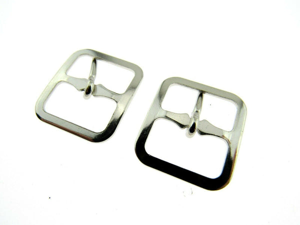 SHOE or KILT BUCKLE 16mm & 19mm - POLISHED METAL CX73 - ThreadandTrimmings