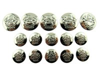 A Set of SILVER Plastic Crested Blazer Buttons - ThreadandTrimmings